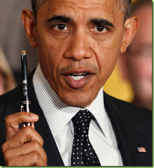 obama with this pen
