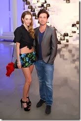 MIAMI BEACH, FL - DECEMBER 03: Micol Sabbabini (L) and Carlo Mazzoni attend the Porsche Design x Thierry Noir Art Basel Miami Beach Event at The Temple House on December 3, 2013 in Miami Beach, Florida.  (Photo by Neilson Barnard/Getty Images for Porsche Design)