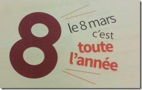 Le Logo '8 mars toute l'année'