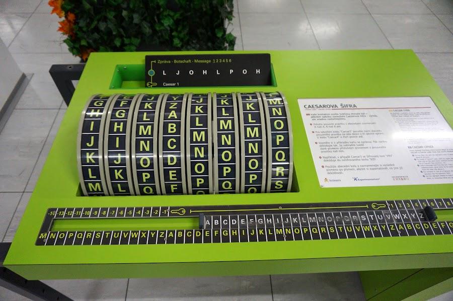 Макет шифровальной машины Энигма