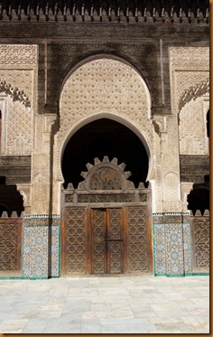 Fes, medressa door