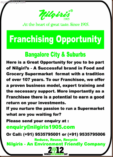 Nilgiris - Franchising Opportunity