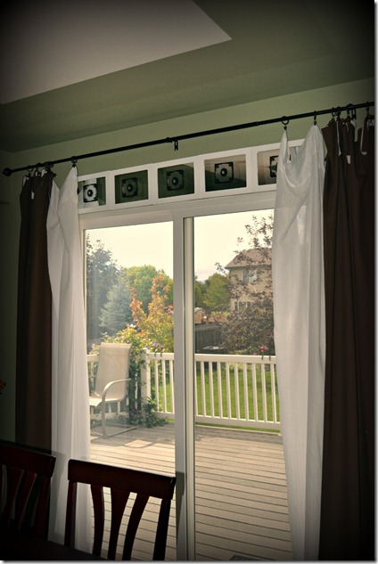 Faux transom window