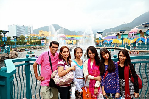 hong kong, ocean park, family, love, fountain, show, lights