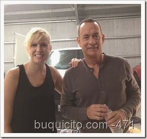 Jennifer con Tom Hanks