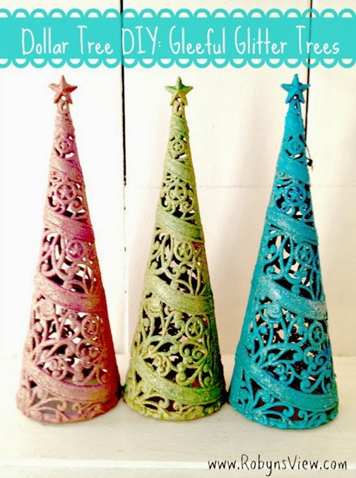 Dollar-Tree-DIY-Gleeful-Glitter-Trees