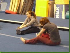 Stretching at Gymnastics