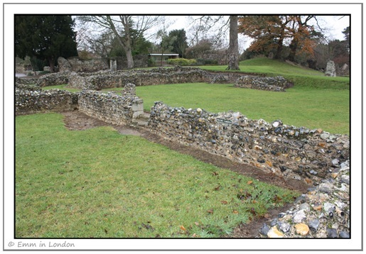 Priors Garden Walls at Bury St Edmunds Abbey