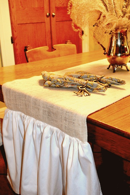 Burlap kitchen runner 027-1