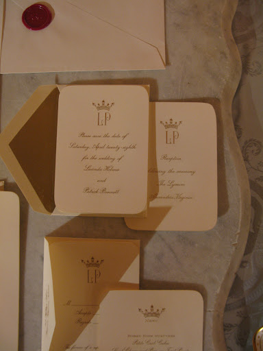 The Martha Stewart Collection Crown Invitation Suite from Crane (crane.com) is simple and stunning.