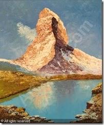 grabone-arnold-georg-1898-1981-matterhorn-mit-stellisee-1548382