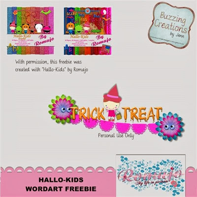 Romajo - Hallo-Kids - Word Art Freebie Preview
