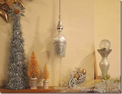 Vintage Christmas Mantle Silver