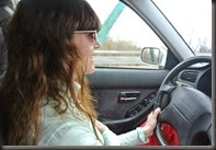 Cheryl Driving the last leg.