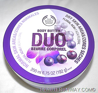 The Body Shop Body Butter Duo Floral Acai