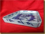 Nampan keramik motif pemancing - samping1