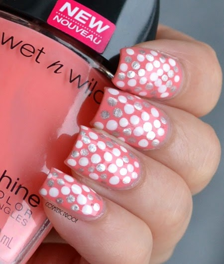 Wet n Wild - She Shells Dotted Nail Art Review (2)