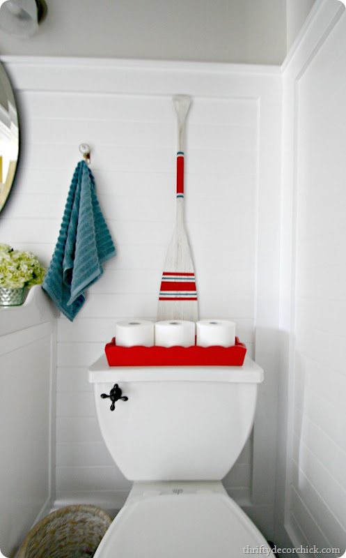 nautical stripes boat oar