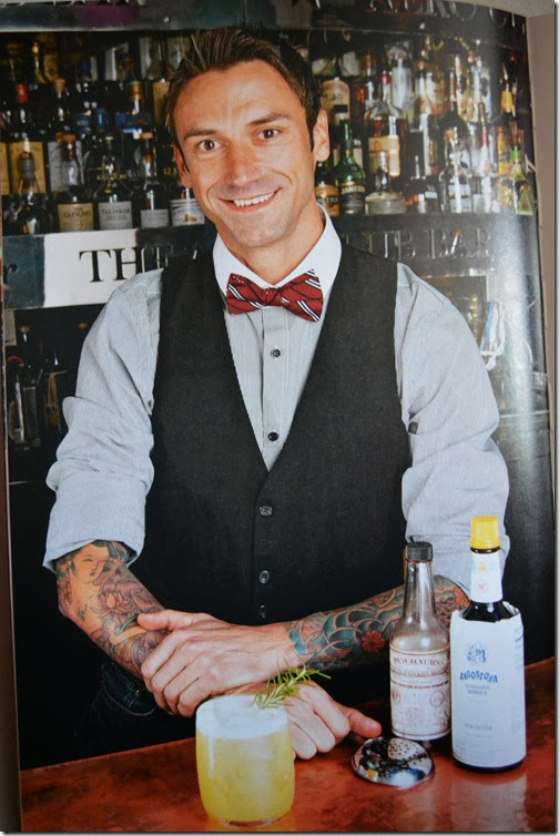 well dressed bartender