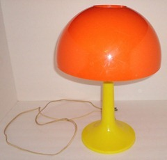 Gilbert Softlite table lamp in orange and yellow