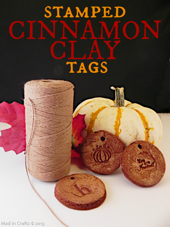 Stamped Cinnamon Clay Tag tutorial