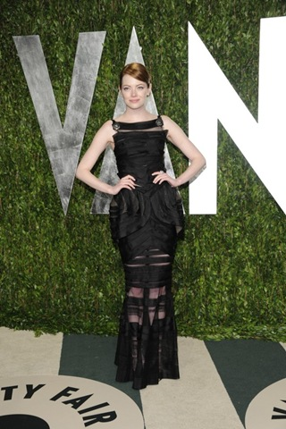 Emma Stone Vanity at Fair Oscar Party 2012