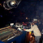 eurobeat DJ at the decks in Shinjuku, Tokyo, Japan