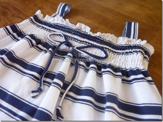 Turn a Tee Shirt Into a Shirred Sundress-tutorial from the Crafty Cousins (9)