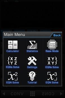 calculadora menu