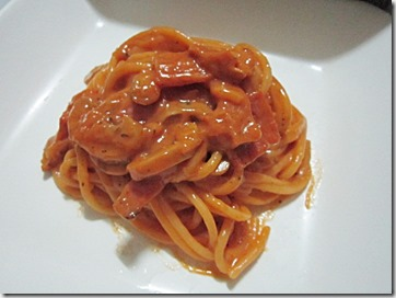 cheesy tomato spaghetti, 240baon