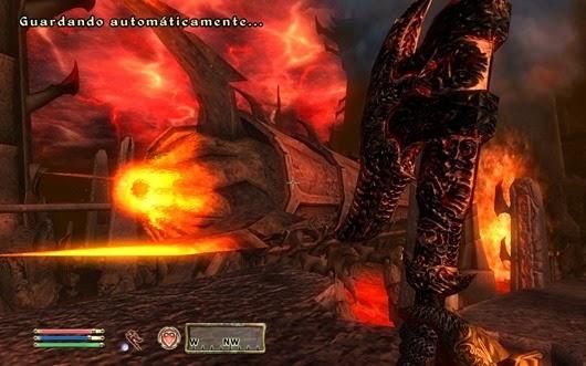 Más te vale tener práctica haciendo el Benny Hill en otros portales a Oblivion.