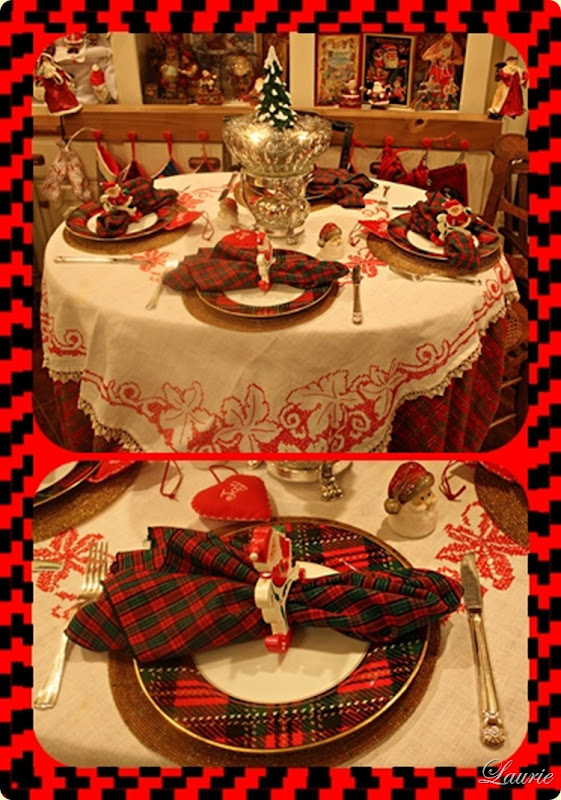 Chritmas tablescapes  -Bargain Decorating with Laurie