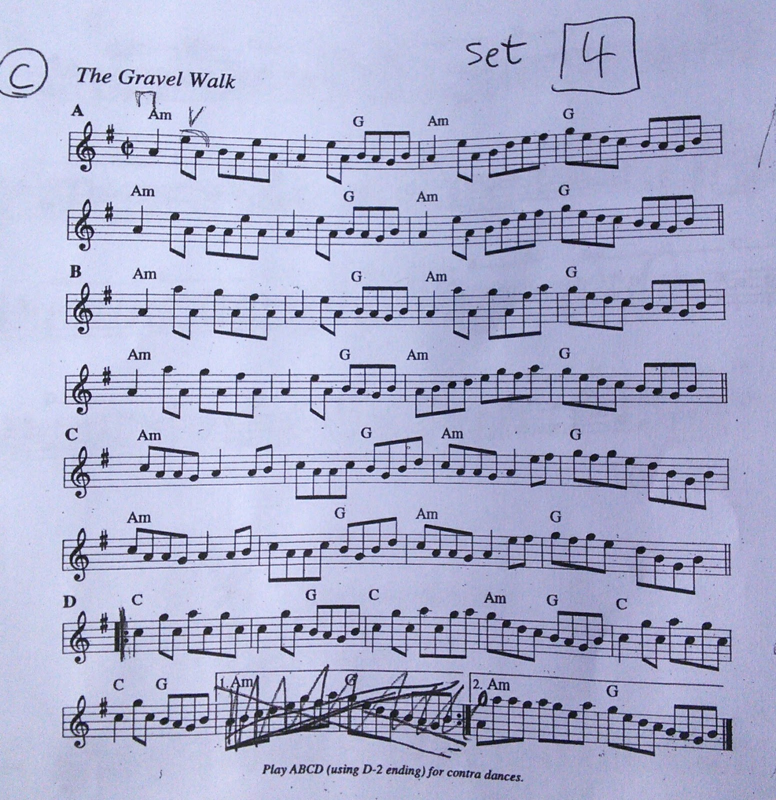 Risk The Gravel Walk Fiddle Sheet Music And Guitar Chords