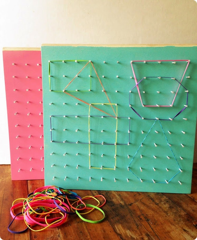 DIY rubber band boards