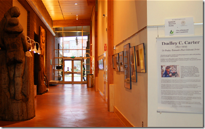 Dudley Carter photo exhibit in the Redmond Library lobby