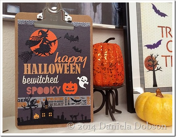Halloween clipboard art by Daniela Dobson