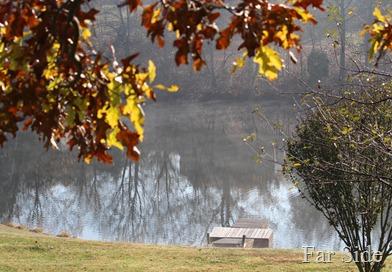 The lake at Jan and Rons
