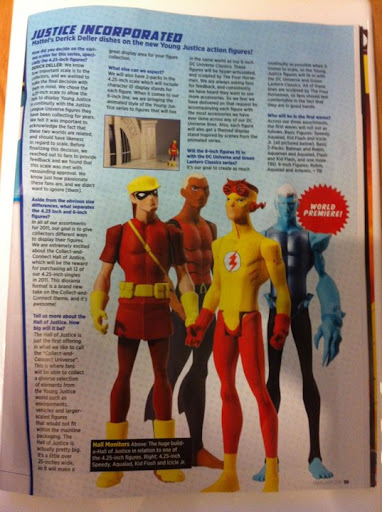 Young Justice action figures coming in 2011 with a HALL OF JUSTICE that you can collect and connect.
