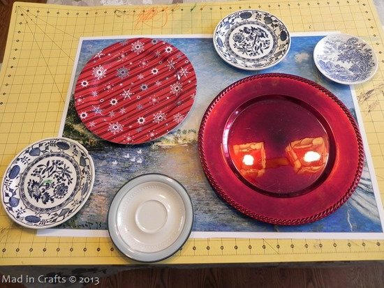 lay out the plates