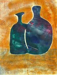 blue bottles print