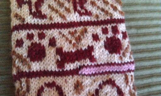 Dog Paw Knitting Pattern : ChemKnits: Dog Themed Knitting Charts