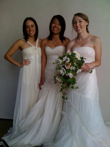 Our three models looked lovely in their gowns.