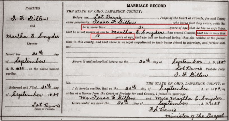 GILLEN_Isaac marriage to Martha annotated