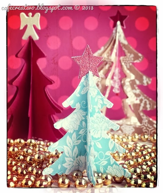 cafe-creativo - big shot - christmas tree scrapbooking