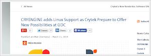 Crytek - confermato il rilascio di CRYENGINE nativo per Linux