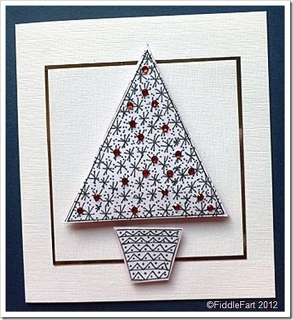 Doodle Christmas Tree Christmas Card