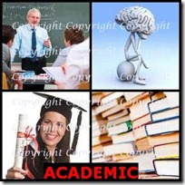 ACADEMIC- 4 Pics 1 Word Answers 3 Letters