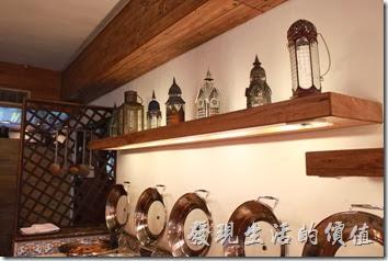 花蓮-理想大地渡假村-里拉西餐廳一樓的裝飾。