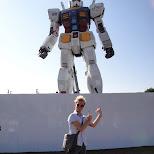 gigantic gundam robot in Odaiba, Tokyo, Japan