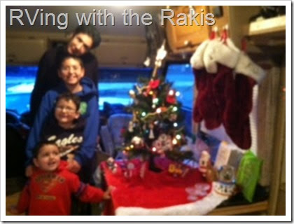 Celebrating Christmas in an RV with three children. - Details on how we made it work from RVing with the Rakis.